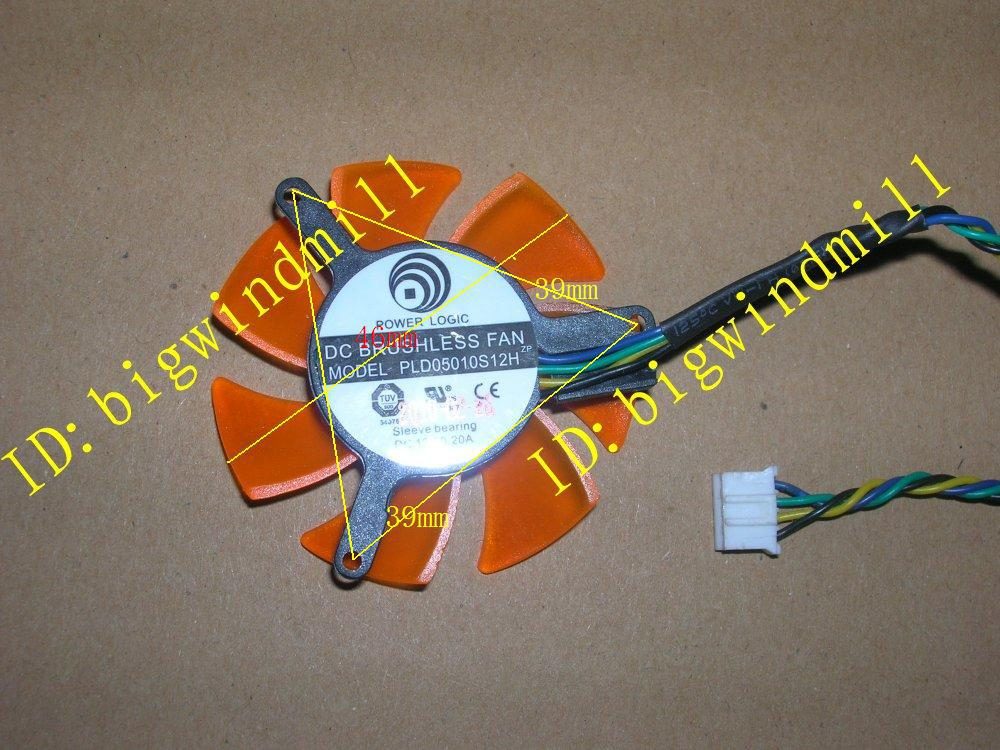 FREE SHIPPING PC graphics card Video Card VGA cooling fan POWER LOGIC PLD05010S12H 4-wires