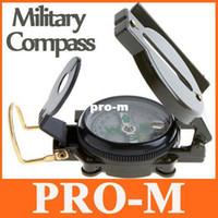 Wholesale Green Military Lensatic Compass - Mini Military Camping Marching Lensatic Compass Magnifier Army Green H8737 DropShipping FreeShipping