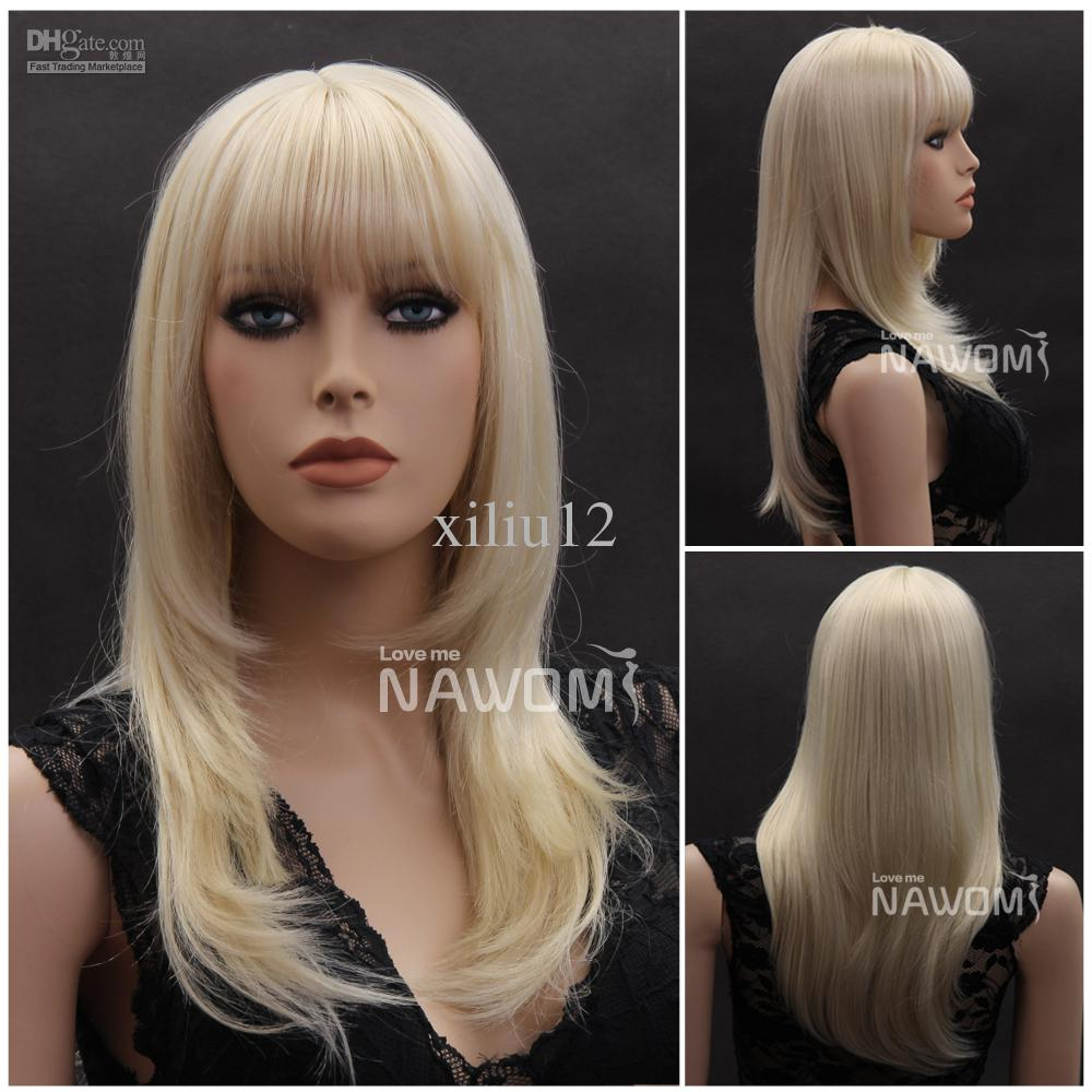 Long Hair Wig Women Blond Wigs Realistic Wigs Natural