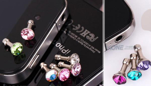 10000pcs diamond Earphone Headphone anti Dust plug dust Cap for iphone 4 4s for 3.5mm plug phone