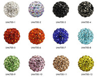 Wholesale Disco Ball Cz - 100pc 10mm Crystal Disco Ball Pave CZ Crystal beads 65pcs Crystals fit for Bangles Bracelet YZ1