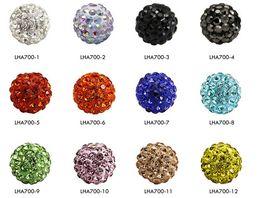 Wholesale Blue Bead Bangle Bracelets - 100pc 10mm Crystal Disco Ball Pave CZ Crystal beads 65pcs Crystals fit for Bangles Bracelet YZ1