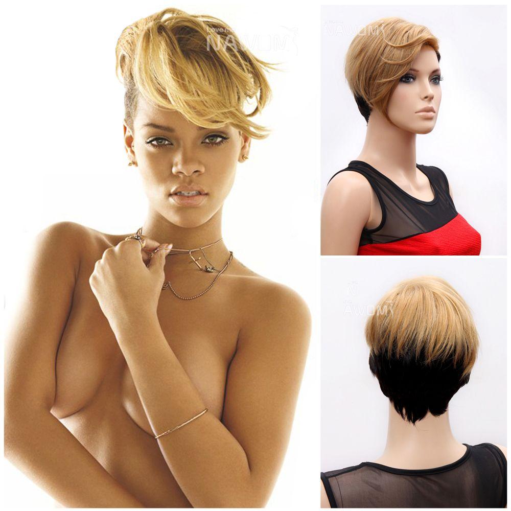 Rihanna Wigs Halloween Wig High Quallity Synthtic Wigs Forh Women ...