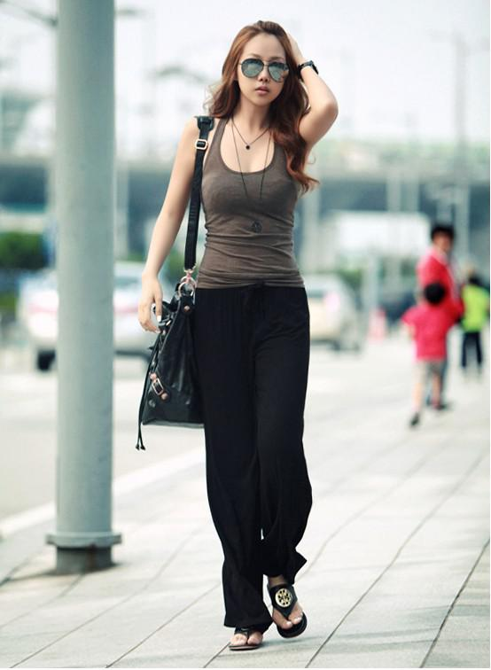 2017 2013 Spring Womens' All Match Wide Leg Loose Pants Yoga Pant ...