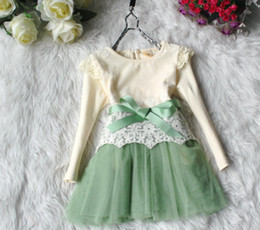 Wholesale Butterfly Tutu Dress Long Sleeve - In Stock Baby Kids Dresses Girls Lace Butterfly Tulle TUTU Dress Girls Long Sleeve Princess Clothes Children Baby Dresses Girl Clothing 5351