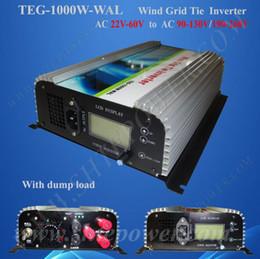 Wholesale Grid Inverter Wind - 1000w 3 phase grid connect wind turbine Inverter 1KW with Dump Load Controller,24v 48v to 110v, 120v