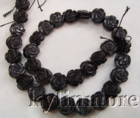 Wholesale 8SE03732 mm Onyx Carved Flower Beads DIY