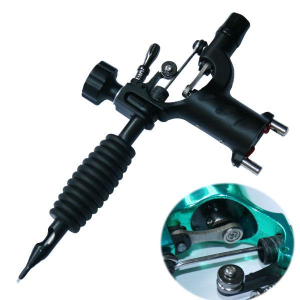 La mejor máquina del tatuaje ~~ Fashion Black Dragonfly Tattoo Machine Gun Tattoo Kit de suministro para principiantes