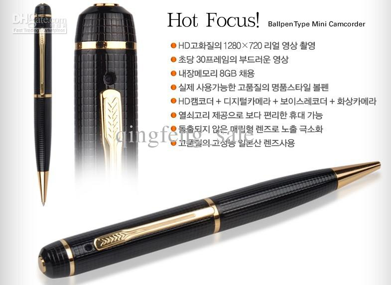 HD 720P High Quality Pen DVR Spy Voice Recorder Camera With Motion Detection DHL A Moton Dection Online