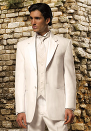 Top Quality White Color Custom Made Groomman Bridegroom Tuxedo(jacket+pant+tie+waistcoat)