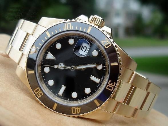 Commercio all'ingrosso - Nuovo acciaio inossidabile degli uomini 18K dell'acciaio inossidabile degli orologi automatici degli orologi degli uomini della vigilanza ha