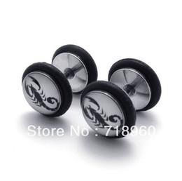 Wholesale Scorpion Stud Earrings - Min.Order$10 trend men's men male models boys titanium steel earrings stainless steel scorpion earri
