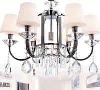 Wholesale New Modern Simplicity Fashion K9 Crystal Glass Iron Chandelier Study Room Pendant Lamp