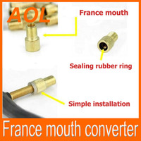 Wholesale Light For Mouth - newest presta valve copper France mouth converter for Bike Tyre Wheel French Valve Stem Adapter LED Tyre Light converter free shipping