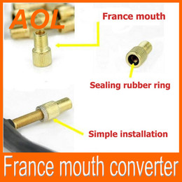 Wholesale French Valve - newest presta valve copper France mouth converter for Bike Tyre Wheel French Valve Stem Adapter LED Tyre Light converter free shipping