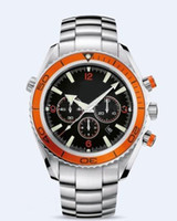 Wholesale Planet Ocean Eta - Wholesale - Luxury Professional Planet Ocean Swiss ETA Movement Automatic Mens Watch Orange Bezel Me