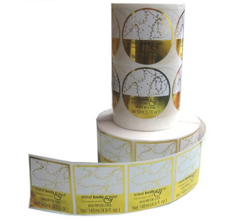 Custom Gold Foil Labels Stickers Stamping Round Stickers - Custom gold foil stickers