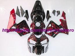 Spritzgegossene cbr verkleidungen online-Rote Flamme Spritzguss-Verkleidungskit für Honda CBR600RR F5 03 04 CBR 600RR 2003 2004