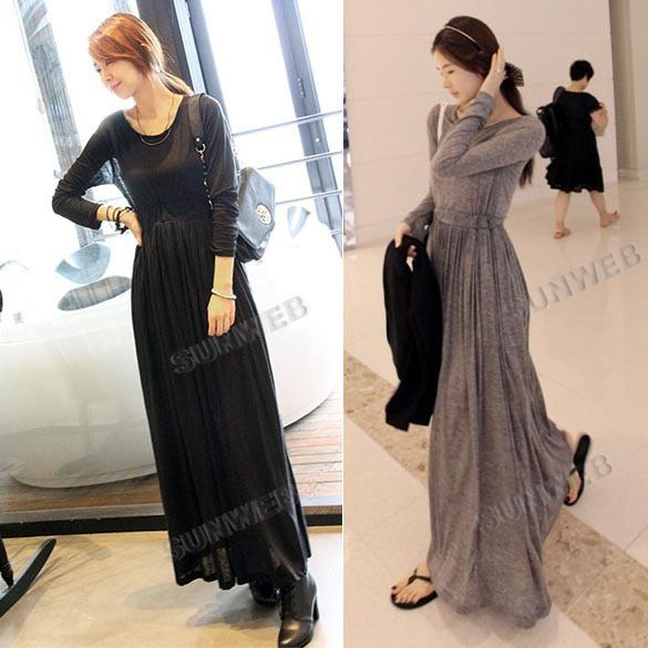 Casual Long Dress with Sleeves