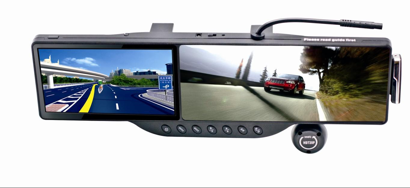 5inch Lcd Screen Gps Navigation Rear View Mirror Car Dvr 350 Wide