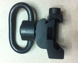 Wholesale rail sling - 5pcs Quick release sling swivel mount fit ris ras rail Black free shipping