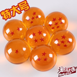 Wholesale Glass Dragon Balls Set - 7.8cm( 3.1inch) animation big dragonBall 7 stars crystal ball set of 7 pcs new in box dragon ball
