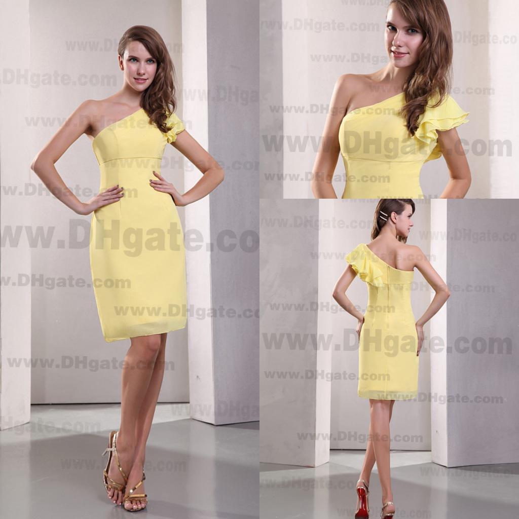 Großzügig Pale Yellow Cocktail Dress Galerie - Hochzeit Kleid Stile ...
