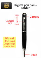 Wholesale Hidden Camera Hdmi - Best price 5.0M pixel 1080P digital pen camcorder HD camera mini dvr HD camera hidden camera HDMI output motion detection