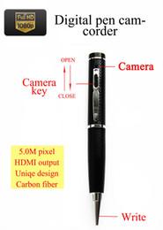Wholesale Hidden Camera Hdmi - Best price 5.0M pixel 1080P digital pen camcorder HD camera mini dvr HD camera hidden camera HDMI output motion detection