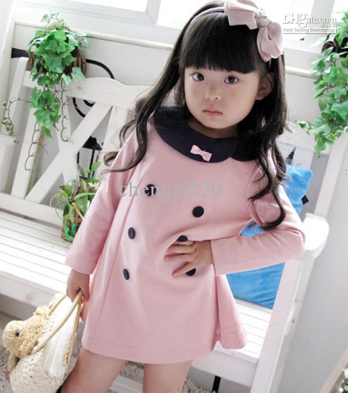 Vestito lungo a maniche lunghe di autunno dei bambini di autunno della molla di stile dei vestiti adorabili delle ragazze Lo SME libera il trasporto