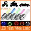 Hot!!! free shipping Car Motorcycle Bicycle Tire Wheel Valve Cap Led Flash Light 5 colors 100pcs lot