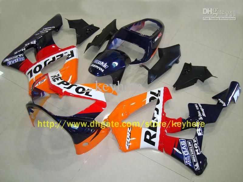 Carénage pour Honda CBR900RR CBR 900RR 929 00-01 2000-2001 REPSOL kit carénages écran gratuit, support DIY