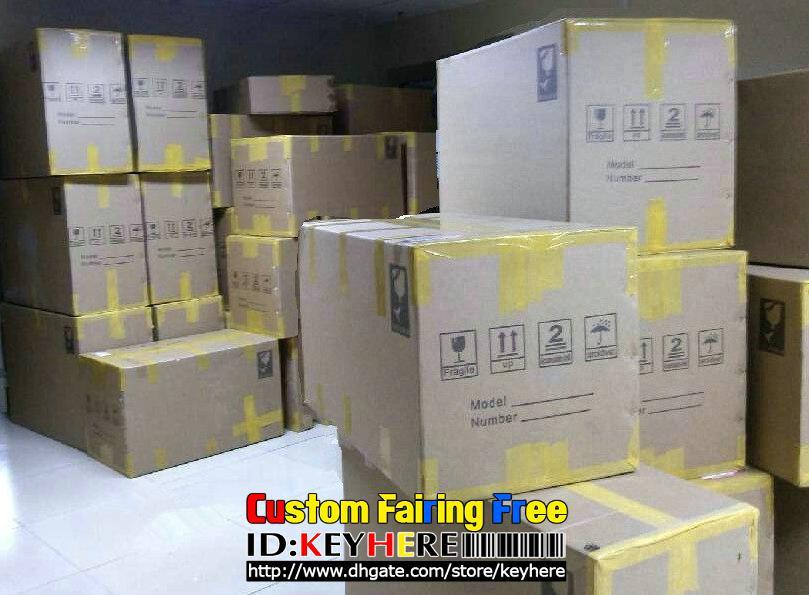 Motorcykel Fairings Kit för Honda CBR900RR CBR 900RR 919 98-99 1998-1999 Black Fairing Kit, F010