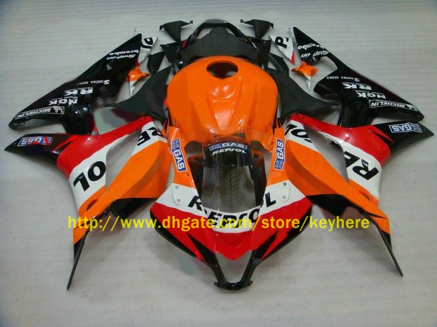 For Honda CBR600RR CBR 600RR 2007 2008 07-08 Repsol Fairing kits motocycle bodywork +windscreen