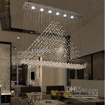 2018 free modern brief messenger wire crystal ceiling light led bar see larger image aloadofball Choice Image