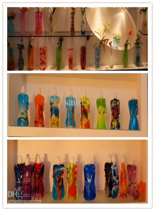 Vaso in PVC pieghevole vaso opp sacchetto eco-friendly fai da te fiore MISTO formato pieghevole
