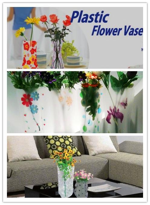 Vase de fleurs DIY Vase PVC Vase PVC FoldAlloPP Sac Eco-respectueux de l'environnement