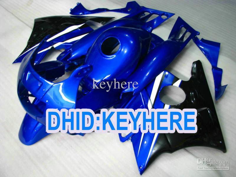 Volledige Set Blue Balck Fairing Kit voor CBR600 F2 1991 1992 1993 1994 CBR600F2 CBRF2 91 92 93 94