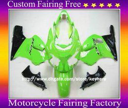 carenagem verde zx12r Desconto Light Green ABS Kit completo Kit de carenagem para 00 01 ZX12R ZX 12R Ninja ZX-12R 2000 2001 + 2 presentes