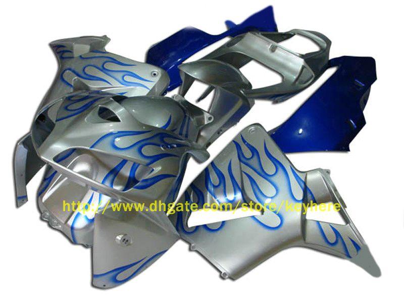 1 conjunto de carenagem de ABS de chama azul de injeção para CBR600RR 2005 2006, CBR 600RR F5 05 06 CBR 600 RR