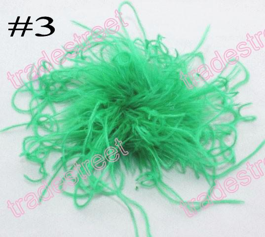 fashion 5-6'' curl ostrich feather puffs feather hair clips ostrich puff clips