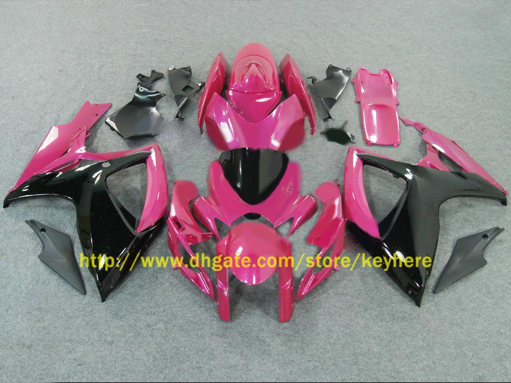 Suzuki 2006 2007 GSX-R600 GSXR750 06 07 GSXR 600 750 K6ホットピンクフェアリング66Z62