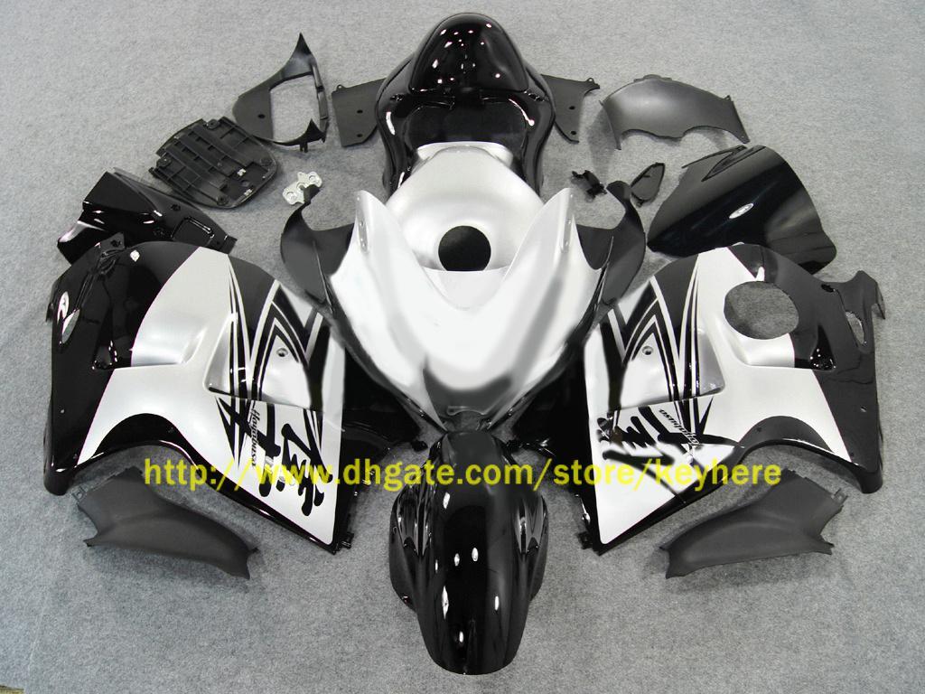차체 페어링 SUZUKI Hayabusa GSX1300R 1996 1997 1998 1999 2000 2007 GSX-R1300 실버 블랙 페어링 ZZ680