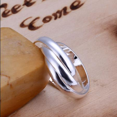 Joyería de moda 925 de plata los tres círculos anillo de calidad superior envío gratis 10 unids / lote