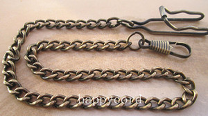 Wholesale w cm gunmetal AND bronze color pocket watch chain wide mm pieces