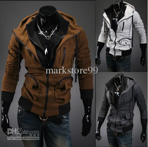 New Fashion Slim Hoodie Coat Men'S Stylish Jacket Outerwear Men ...
