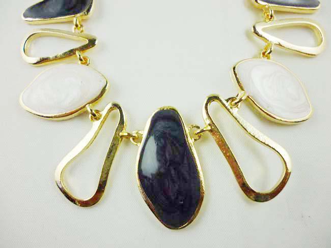 Collana della bolla di dichiarazione del pendente di placcatura di placcatura dell'oro della grande catena di pietra dell'annata i