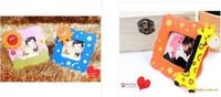 bilderrahmen großhandel-NEU Cartoon Baby Fotorahmen Gemischte süße Holz Cartoon Kinder Kinder Fotorahmen