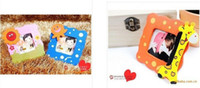 Wholesale Baby Photo Frame Cartoon - NEW Cartoon baby photo frame Mixed cute wooden cartoon children's kids photo frame