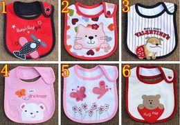 Wholesale infant baby wear - Infant saliva towels three layer Baby Waterproof bibs Baby wear accessories 81 styles